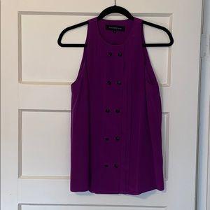 Alexander Wang purple barely worn silk top!
